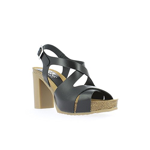 Yokono Women's Malibu Vaquetilla Platform Sandals Black (Black 004) HbQ9bG