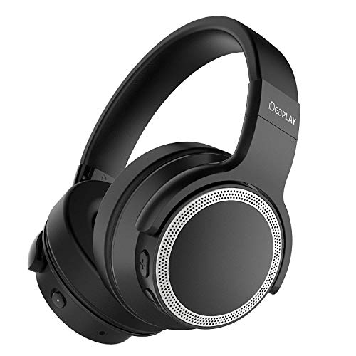 iDeaPlay V206 Active Noise Cancelling Headphones, Wireless Bluetooth, 25 Hours Playtime, Microphone aptX Stereo Sound, CVC 6.0 Noise-Cancelling Mic for Travel TV Computer Phone ()