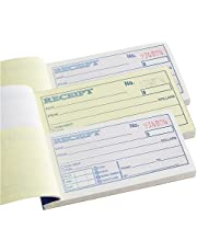 1InTheOffice Money and Rent Receipt, 2-3/4 x 5-3/8 Inches, 2-Parts, Carbonless, White/Canary, 50 Sets per Book (3 Books)