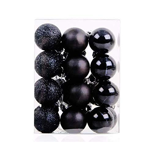 TangTanger Christmas Ball Assorted Pendant Shatterproof Ball Ornament Set Seasonal Holiday Wedding Party Decorations(24 pcs, 3 cm) -