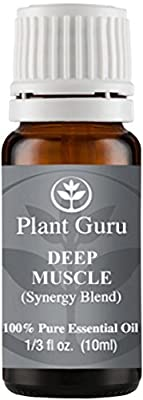 Deep Muscle Synergy Essential Oil Blend 10 ml. 100% Pure, Undiluted, Therapeutic Grade. (Blend Of: Wintergreen, Peppermint, Eucalyptus, Camphor)