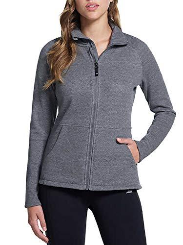 Tall Full Zip Fleece (Skechers Performance Ladies' Go Walk Full Zip Fleece (Medium) Heather Grey)