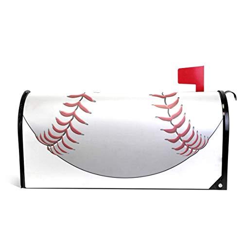 Siwbko Magnetic Mailbox Cover Baseball Decoration for House Garden