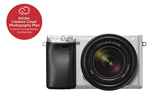 "rorless Camera Interchangeable Lens Digital Camera with APS-C, Auto Focus & 4K Video - ILCE 6300M/S Body with 3"" LCD Screen & 18-135mm Zoom Lens - E Mount Compatible - Silver ()"