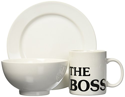 Waechtersbach S3BSBO6020 Breakfast Set, Includes Boss Mug, Cereal Bowl and Salad Plate, White