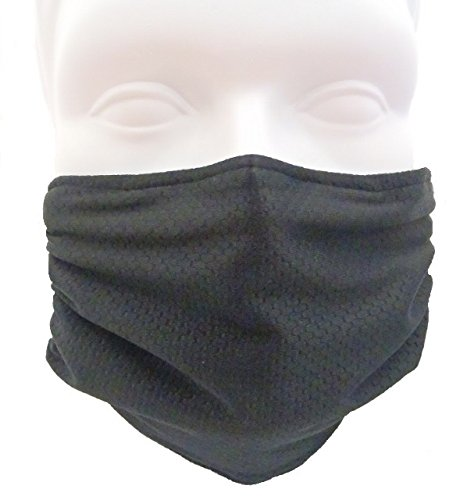 Breathe Healthy Honeycomb Black Mask - Flu Mask, Dust Mask, Allergy Mask - Comfortable, Reusable - Protection from Dust, Pollen, Allergens, & Flu Germs