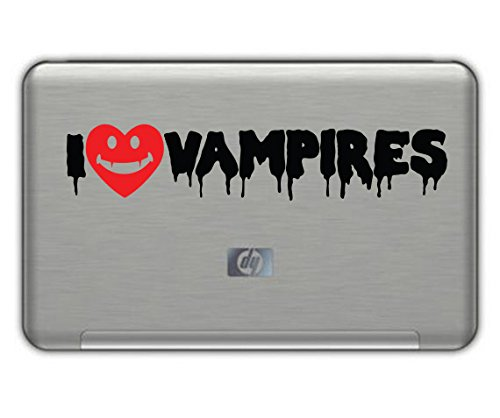 I Love VAMPIRES vinyl STICKER 1.5