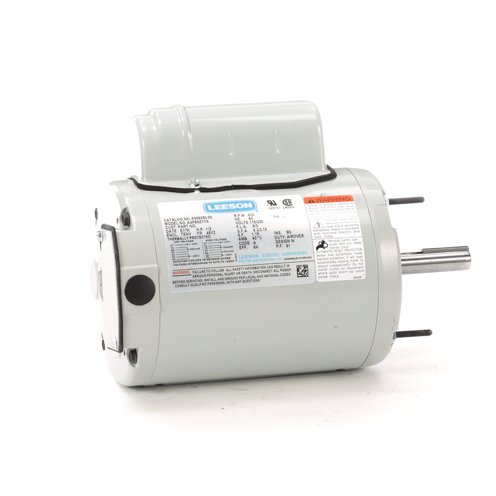 Leeson Electric A099250.00 - Ventilation Fan Motor - 1 ph, 1/2 hp, 900 rpm, 115/230 V, 48YZ Frame, Totally Enclosed Non Ventilated Enclosure, 60 Hz ()
