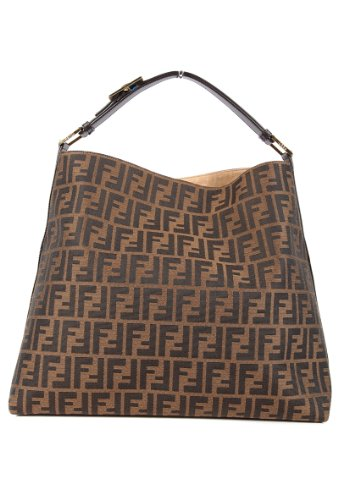 - Fendi women's shoulder bag original hobo brown