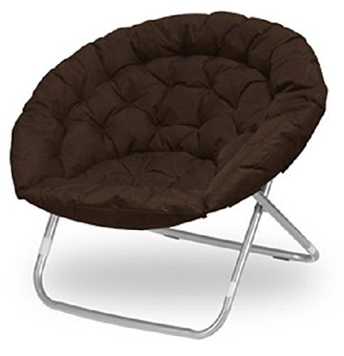 Oversized Folding Moon Chair, Multiple Colors, Large, Round (Brown) by...