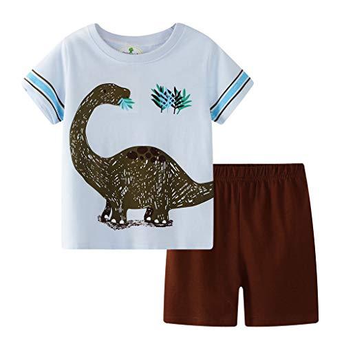 (WOCACHI Toddler Kids Baby Boys Girls Pajamas Cartoon Tops T-Shirt Shorts 2PC Outfits Set 2pcs 3pcs Footies Onesies Playsuits Tutu Princess Granddaughter Rash Guards Short Tee)