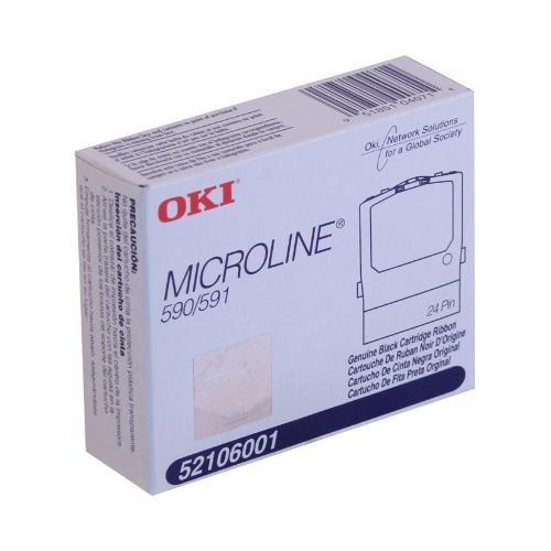 Oki 52106001 OEM Ribbon - Microline 590 591 Black Fabric Ribbon (4M Characters) OEM