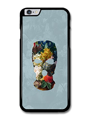 Balaclava Illustration on Flower Painting Goth Grunge case for iPhone 6 Plus 6S Plus