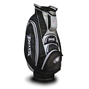 Team Golf NFL Victory Golf Cart Bag, 10-way Top with Integrated Dual Handle & External Putter Well, Cooler Pocket, Padded Strap, Umbrella Holder & Removable Rain Hood