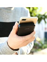 Aukey 10000 mAh banco de energía, diseño delgado y salidas dual USB, cargador portátil para iPhone 7 6 6S Plus, Samsung Galaxy Note 8, S8 S8 + y más.