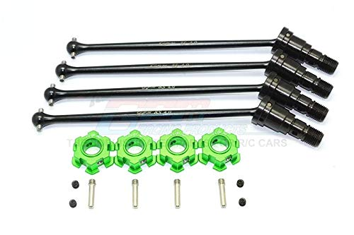 - Harden Steel #45 Front and Rear CVD Drive Shaft with Aluminum Hex for Traxxas X-Maxx 8S - 2Prs Set Green