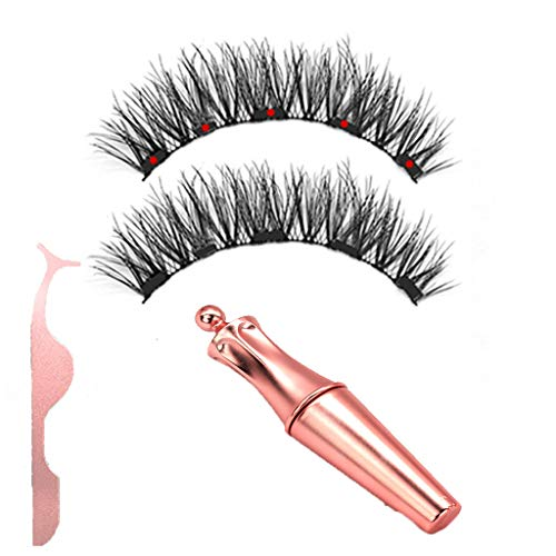 (Startview Magnetic Liquid Eyeliner with Magnetic False Eyelashes Easy to Wear Lashes Kit D (D))