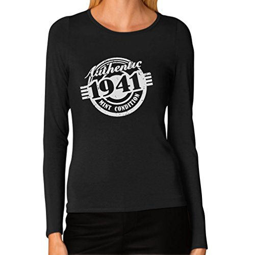 1941 Mint - 75th Birthday Gift Authentic 1941 Mint Condition Funny Women Long Sleeve T-Shirt X-Large Black