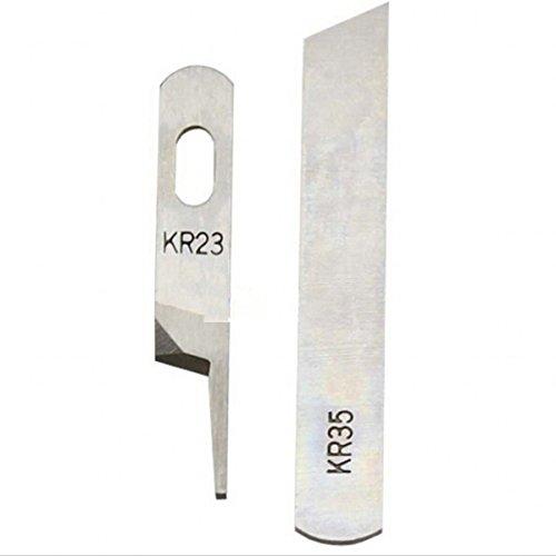 WellieSTR 2 KR23&KR35 Upper & Lower Knife/Blade,Industrial Serger / Overlock Sewing Machine Parts,For Juki,Siruba,Pegasus,Jack…