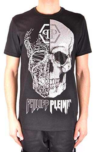 12208a4cf3 PHILIPP PLEIN Men's Mtk2871pjy002n02 Black Cotton T-Shirt