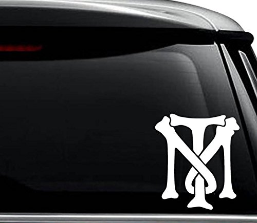 Tony Montana Bones Initial Decal Sticker For Use On Laptop, Helmet, Car, Truck, Motorcycle, Windows, Bumper, Wall, and Decor Size- [6 inch] / [15 cm] Wide / Color- Gloss White