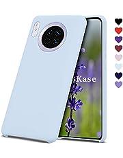 OJBKase Funda Compatible Huawei Mate 30, Slim Líquido de Silicona Gel Carcasa Anti-Rasguño y Resistente Huellas Dactilares Totalmente Protectora Caso (Azul Claro)
