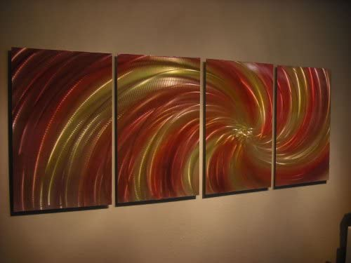 Miles Shay Metal Wall Art, Modern Home Decor, Abstract Wall Sculpture Contemporary- Harvest