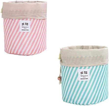 アップバッグバレル形の大容量を作り、メッシュバッグ巾着化粧オーガナイザー収納袋、トラベルキット家庭用パック浴室ストレージ、2個