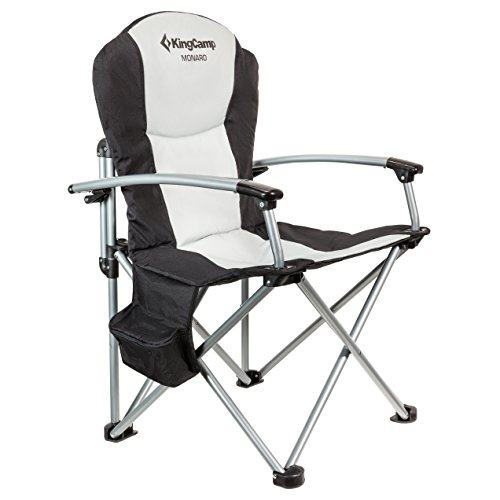 Kingcamp Heavy Duty Steel Camping Director's Folding Chair with Carry Bag and Cooler Bag