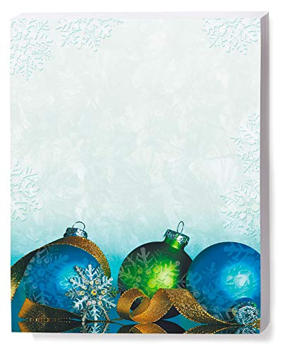 (Christmas Ornament Stationery, Snowflake Jewels 8 1/2 x 11 Printable Paper, 100-pack)