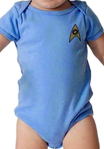 STAR TREK Baby Bodysuit Romper Infant Shirt Clothes (18-24 Months, Blue) -