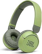سماعات رأس بلوتوث لاسلكية بخاصية الغاء الضوضاء مع ميكروفون للاطفال من جيه بي ال Jr310 - اخضر فاتح وداكن