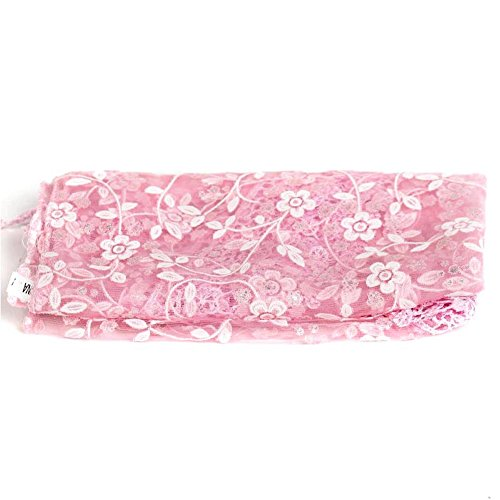 CHUANGLI Cute Newborn Baby Photography Cute Baby Pictures Prop Wrap Nylon Lace Blanket (Pink)