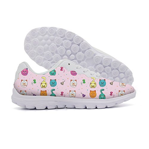 Suede Mouse Cat Toy - rttyl et67u67 Wear-resistant Beautiful Women Cute Cat And Mice Bowknot Pink Background Sports Athletic Shoes