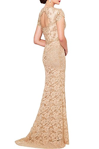 La Kurzarm Braut Brautmutterkleider Abendkleider Pink Ausschnitt Spitze Marie V Etuikleider Hell Trumpet Blau rr6qC