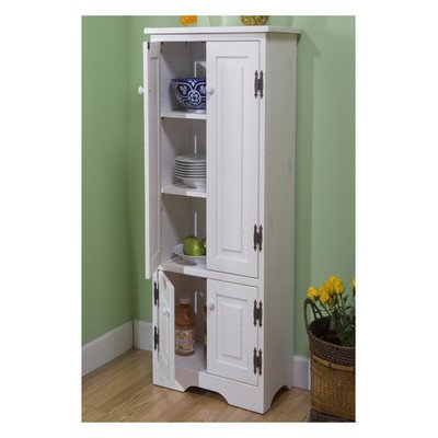 Pine Extra Tall Cabinet Finish: White