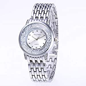 Deep Shell Quartz Stainless Steel Analog Round Shape Casual Watch for Unisex 033-9