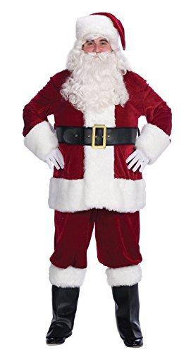 Velvet Complete Santa Adult Costumes (Velvet Complete Santa Costume - Adult-X-Large)