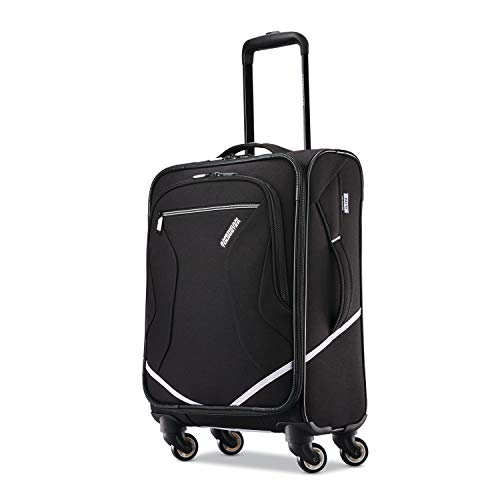 (American Tourister Carry-On, Black/White)
