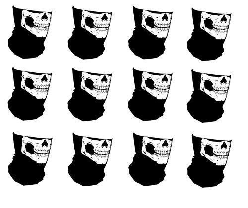12 pieces - One Dozen Custom No Fangs Skeleton Skull Neck Tube Face Mask With My Skull Store Bones Font Logo Shield Gaiter Neck Warmer Balaclava -