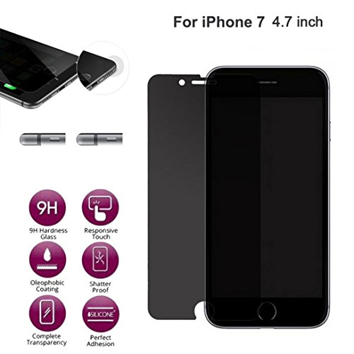 Screen Protector for iPhone 7, Gotd New Anti-Spy Privacy Tempered Glass Screen Protector Film [For iPhone 7 4.7inch]