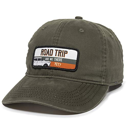 Road Trip Dad Hat - Adjustable Polo Style Baseball Cap for Men & Women (Olive)