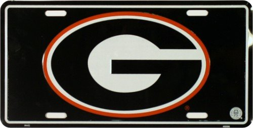 University of Georgia License Plate Tin Sign 6 x 12in