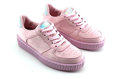 Modelisa - Zapatillas Plataforma Mujer Rosa