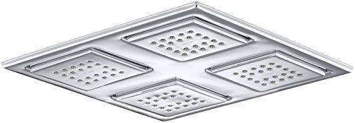 KOHLER K-98740-CP Watertile Rain Overhead Showering Panel with 4 22-Nozzle Sprayheads, Polished Chrome