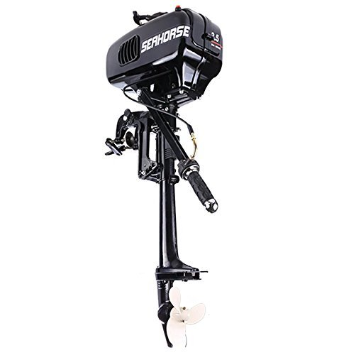 3.5HP 20km/h Outboard Motor Boat Engine Inflatable Fishing boat motor for Inflatable Boats, Fishing Boats, Sailboats, and Small Yachts, US Stock