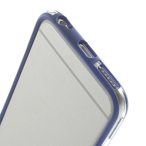 G4GADGET® Iphone 6 Silicon Bumper Transparent Dark Blue