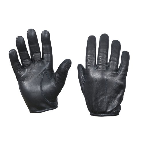 Leather Cut Resistant Police Gloves, Medium