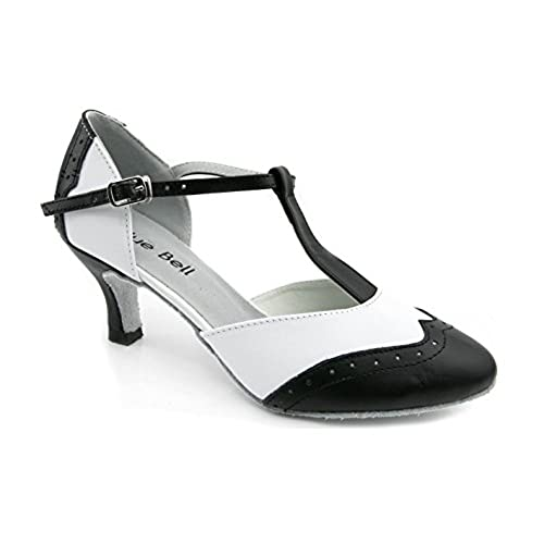 5f437ad7a25 best Blue Bell Shoes HANDMADE Women s Ballroom Salsa Wedding Competition  Dance Shoes Style  Aragon 2.5