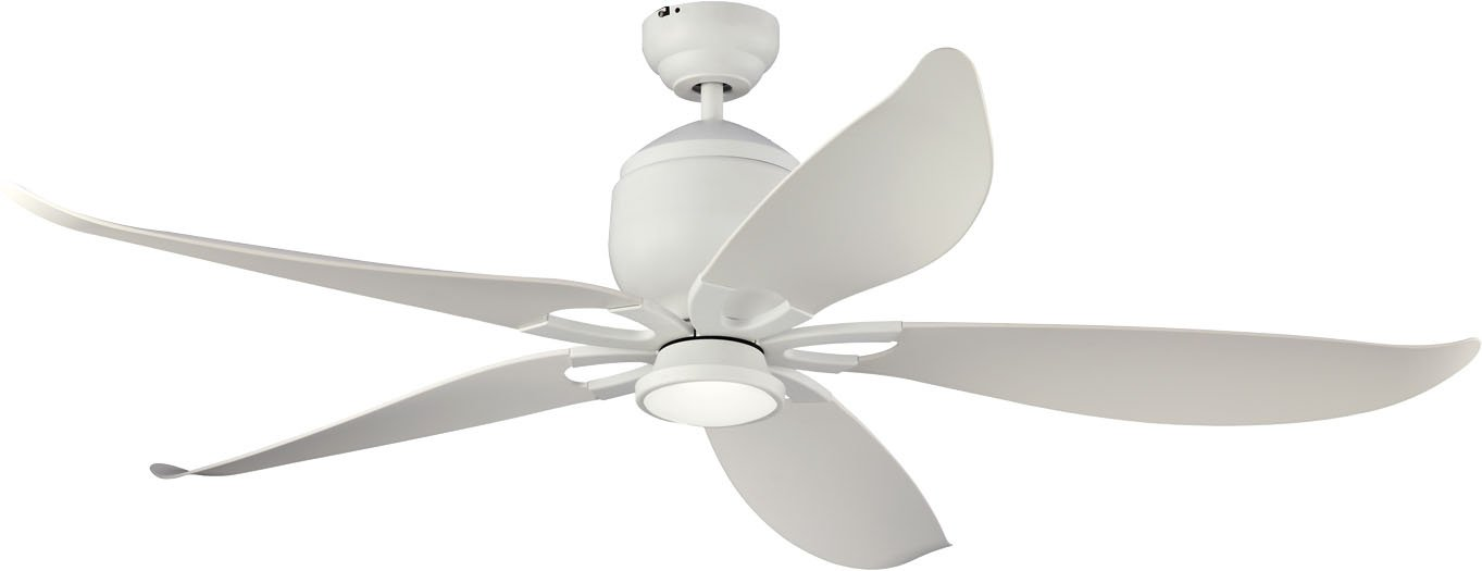 Monte Carlo 5LLR56RZWD Damp Location Lily Ceiling Fan